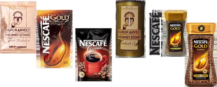 Aközgür Gıda Kahve Grubu Ürünleri